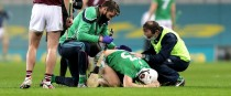 Aaron Gillane is treated during the All-Ireland semi-final against Galway.