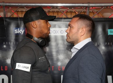 Joshua and Pulev face off.