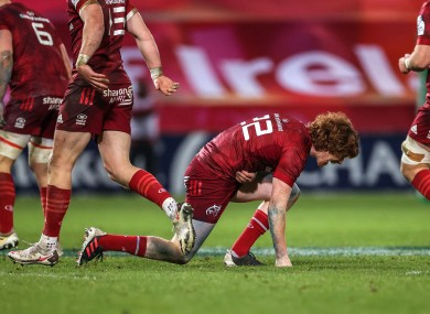 Ben Healy was injured in Munster's win over Harlequins.
