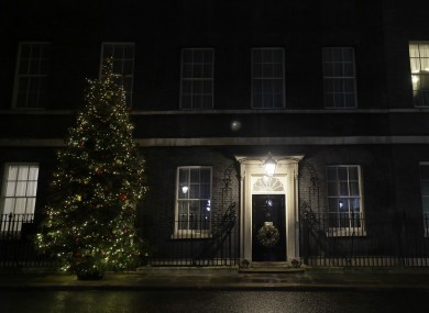 The Christmas tree outside 10 Downing Street in London.