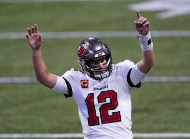 Tom Brady celebrates a touchdown.