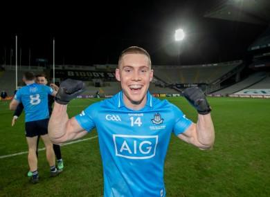 Con O'Callaghan celebrates Dublin's win over Mayo.
