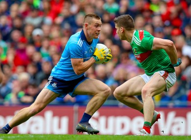Con O'Callaghan on the way to scoring his second goal against Mayo in 2019.