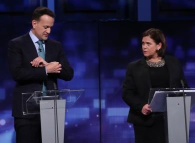 Varadkar and Mary Lou McDonald ahead of the 2020 general election.