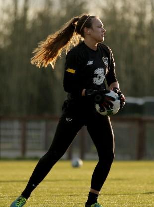 Ireland's starting 'keeper tonight, Grace Moloney.