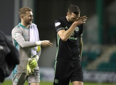 Shane Duffy, with goalkeeper Scott Bain.