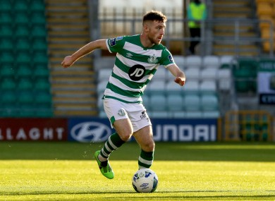 Byrne in action for the Hoops in the FAI Cup semi-final.