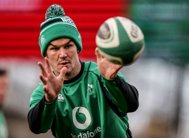 Eyes on the ball: Sexton and Ireland face Scotland today.
