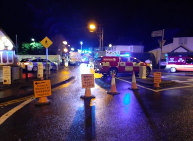 Road closures were put in place due to the incident.
