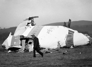 The wrecked Pan-Am flight in Lockerbie (file photo)