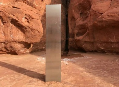 The mysterious silver monolith that was placed in the Utah desert has disappeared less than 10 days after it was spotted by wildlife biologists