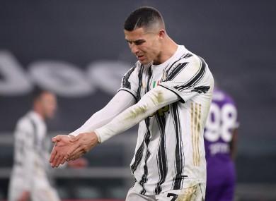 Ronaldo in action against Fiorentina.