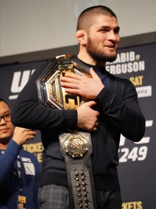 UFC lightweight champion Khabib Nurmagomedov.