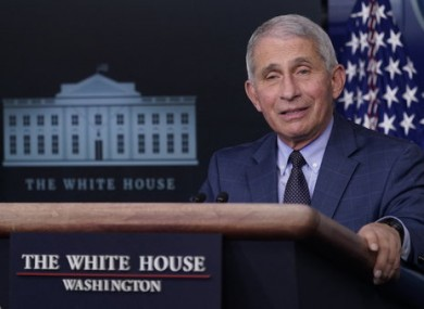 Top US infectious diseases expert Dr. Anthony Fauci.