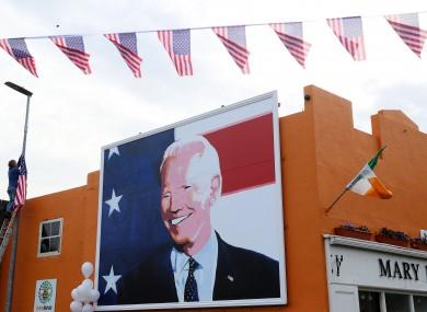Joe Biden artwork in Ballina, Co Mayo.