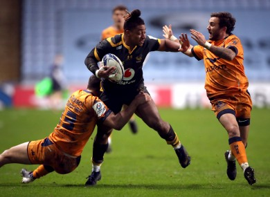 Wasps' Paolo Odogwu in action during the Champions Cup match at the Ricoh Arena, Coventry.