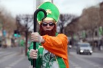 Liam Mooney dressed as St Patrick on O Connell Street, Dublin last year.