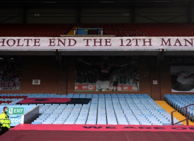 A view of the Holte End at Villa Park.