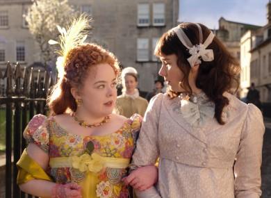 Nicola Coughlan (left) stars in the hit Netflix show Bridgerton