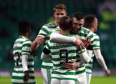 Shane Duffy's Celtic beat Hamilton for their first win in five Scottish Premiership games.