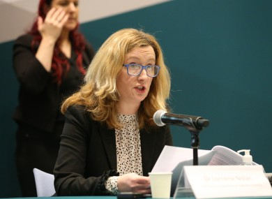Dr Lorraine Nolan spoke about vaccine safety and suspected side effects at tonight's briefing