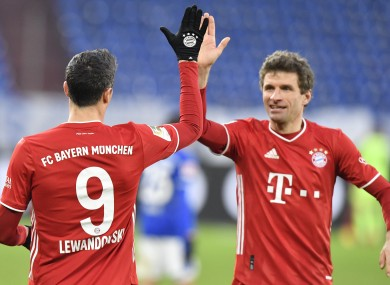 Robert Lewandowski and Thomas Mueller both scored today for Bayern Munich.