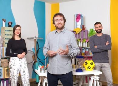Múinteoirí Clíona, Ray and John, hosts of RTÉ2's Home School Hub.