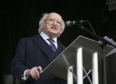 File image of President Michael D Higgins in 2018.