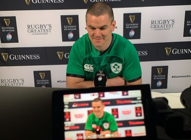 Sexton during yesterday's Six Nations launch.