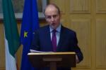 Taoiseach Micheál Martin during today's speech to the IIEA.