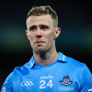 Paul Mannion pictured after Dublin's win over Mayo in last month's All-Ireland final.