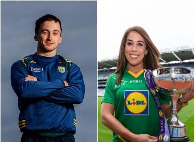 New Kerry captains Paul Murphy and Aislinn Desmond.
