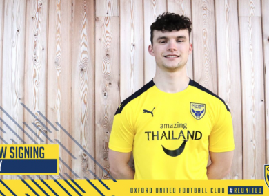 Luke McNally is unveiled as Oxford's latest signing.