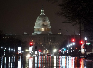 The US Capitol Hill building last night.