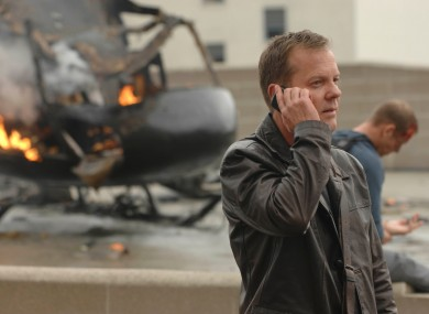 Jack Bauer in 24, available to stream with Star on Disney+.