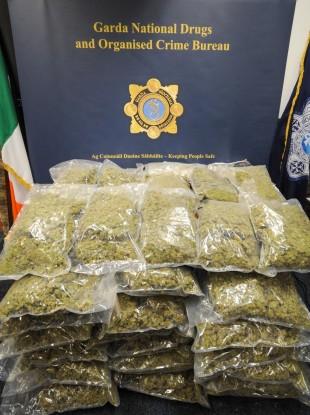 36kg of cannabis was seized.
