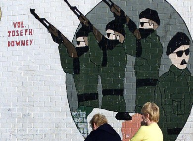 File photo. IRA mural in Belfast