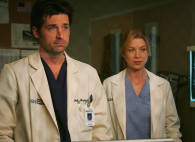 Ellen Pompeo and Patrick Dempsey in Grey's Anatomy, now available to watch with Star on Disney+.
