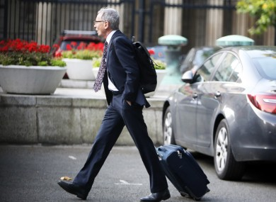 Dr Gabriel Scally arriving at Leinster house ahead of the Oireachtas Health Committee.