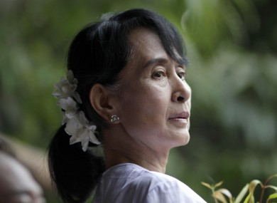 Myanmar opposition leader Aung San Suu Kyi. April 2012.