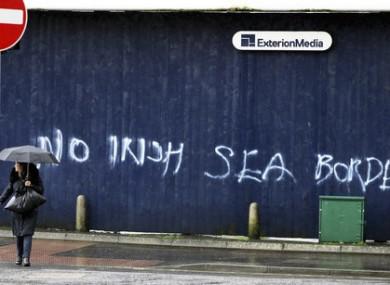 Graffiti in Belfast city centre.