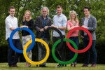 Jerry Kiernan and David Gillick (centre) at the launch of RTÉ's Rio 2016 Olympic coverage.