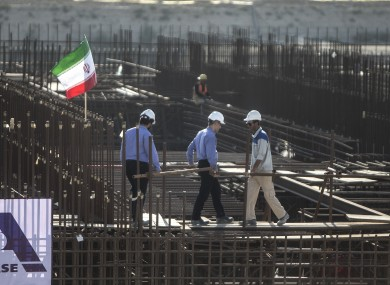 Construction of Iranian nuclear plant in 2019
