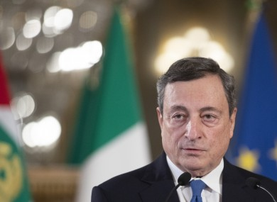Draghi speaks to the media after accepting a mandate to form Italy's new government from Italian President Sergio Mattarella