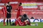 Jordan Henderson, injured during the Merseyside derby last weekend.