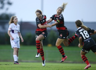 Julie-Ann Russell (left) made the difference for her side today.