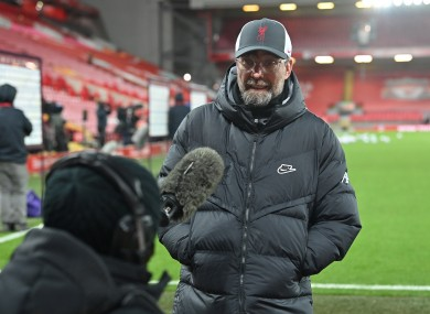 Liverpool manager Jurgen Klopp speaks to LFCTV after the Premier League match.