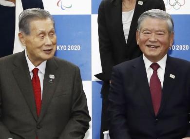 Yoshiro Mori, left, And Saburo Kawabuchi.