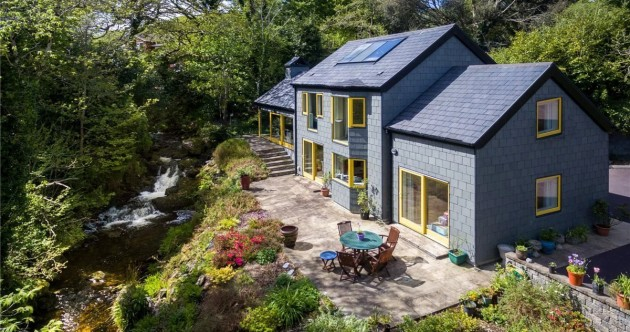 Woodland hideaway with lush gardens and a waterfall on the Wild Atlantic Way