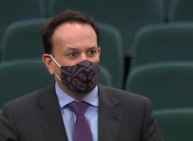 Leo Vardakar in the Dáil today.